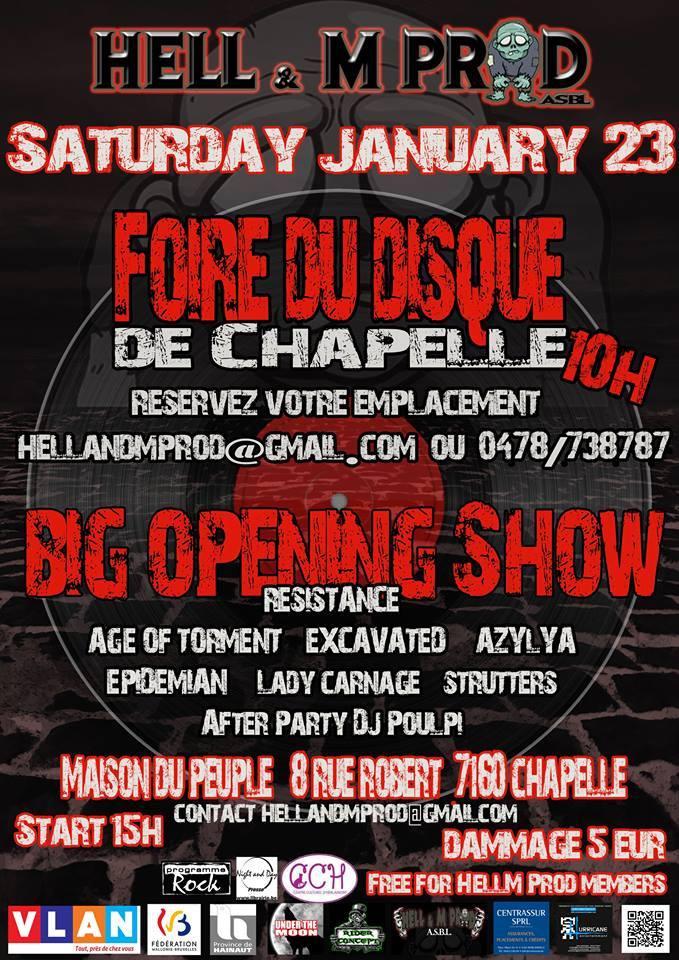 Big Opening Show de Hell&M Prod + Foire aux disques