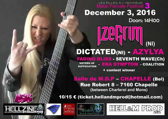 """""""Les Filles à L'Honneur Fest"""" Part 3 Metal Female Festival"""